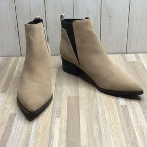 Marc Fisher Ignite Booties Natural Suede Leather